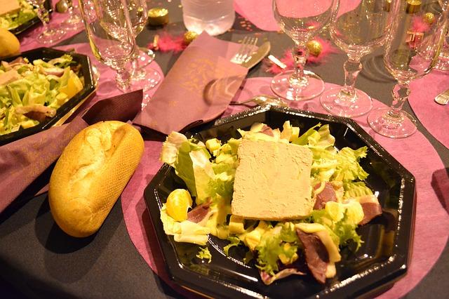Salade de foie de volaille au vinaigre de vin au gingembre